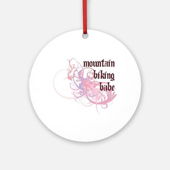 Mountain Biking Babe Ornament (Round)