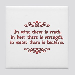 German Proverb Tile Coaster