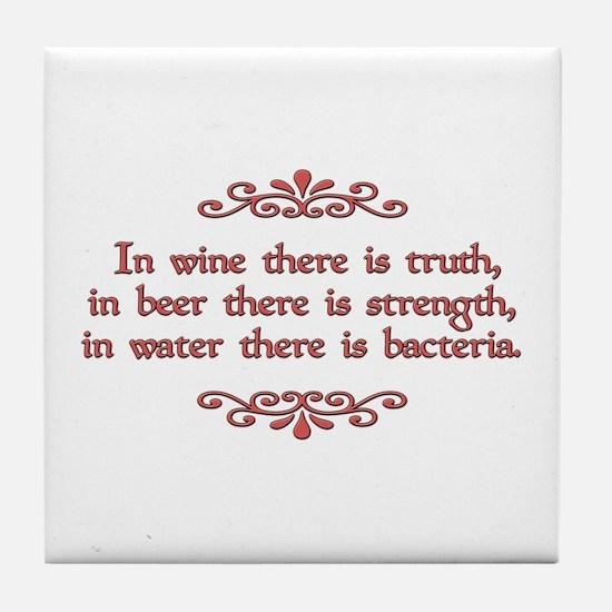 German Proverb Tile Coaster