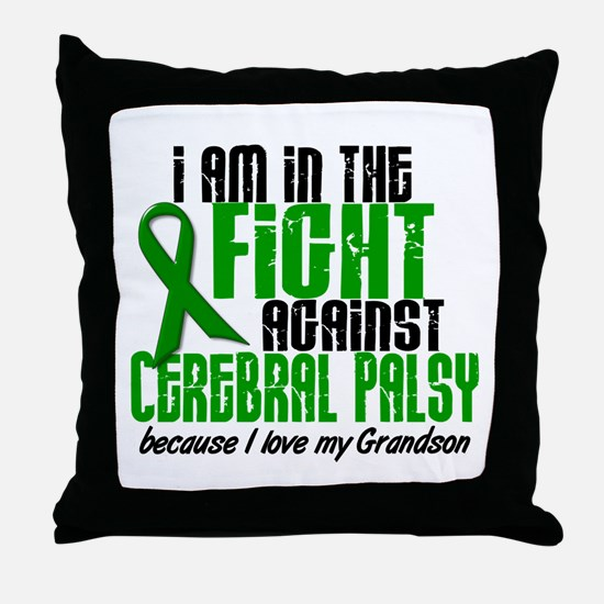 In The Fight Against CP 1 (Grandson) Throw Pillow