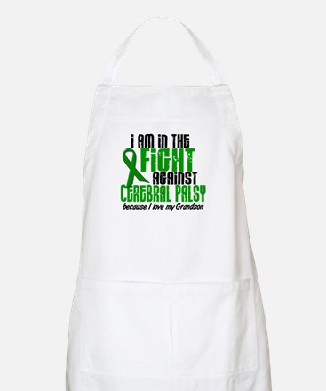 In The Fight Against CP 1 (Grandson) BBQ Apron