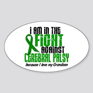 In The Fight Against CP 1 (Grandson) Sticker (Oval