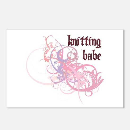 Knitting Babe Postcards (Package of 8)