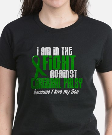 In The Fight Against CP 1 (Son) Women's Dark T-Shi