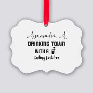 Annapolis. A drinking town with a Picture Ornament