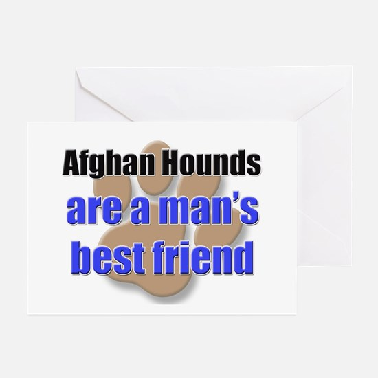 Afghan Hounds man's best friend Greeting Cards (Pk