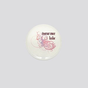 Insurance Babe Mini Button
