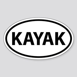 KAYAK Oval Sticker