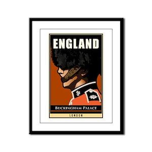 England Framed Panel Print
