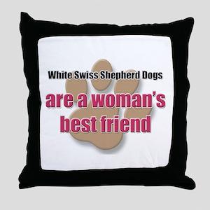 White Swiss Shepherd Dogs woman's best friend Thro
