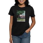 Train On a Bridge, N.S. RR Women's Dark T-Shirt