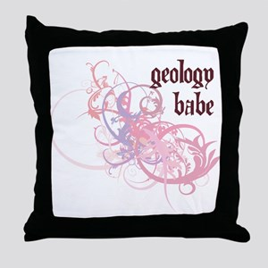 Geology Babe Throw Pillow