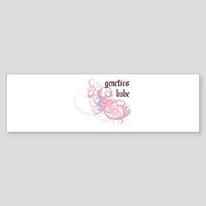 Genetics Babe Bumper Sticker