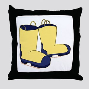 Cute Rain Boots Picture 2 Throw Pillow