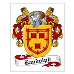 Randolph Family Crest Small Poster