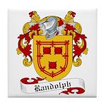 Randolph Family Crest Tile Coaster