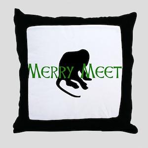 Merry Meet Spirit Monkey Throw Pillow