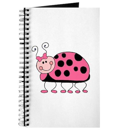 Pretty Pink Ladybug Journal