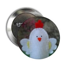 Stitched Rooster Button