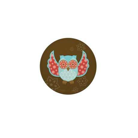 Bohemian Owl - Mini Button (10 pack)