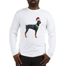 Santa Doberman Pinscher Long Sleeve T-Shirt