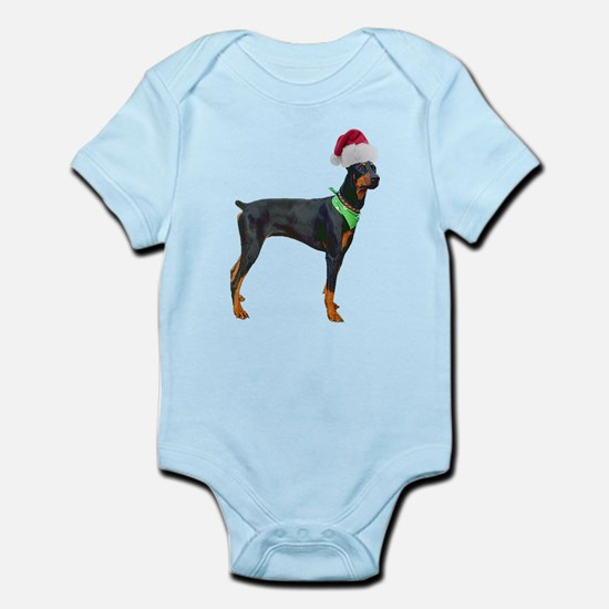 Santa Doberman Pinscher Infant Bodysuit