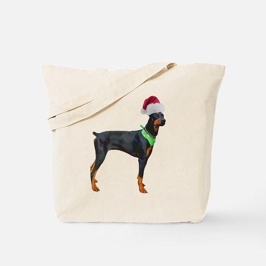 Santa Doberman Pinscher Tote Bag