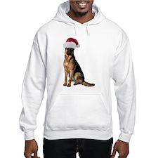 Santa German Shepherd Hooded Sweatshirt