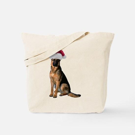 Santa German Shepherd Tote Bag