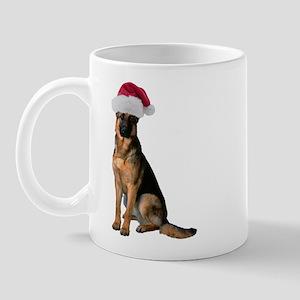 Santa German Shepherd Mug