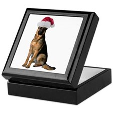 Santa German Shepherd Keepsake Box