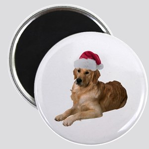 Santa Golden Retriever Magnet