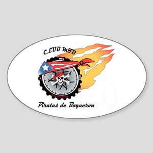 Club MTB Piratas de Boqueron Oval Sticker