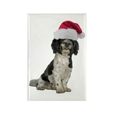 Santa Havanese Christmas Rectangle Magnet