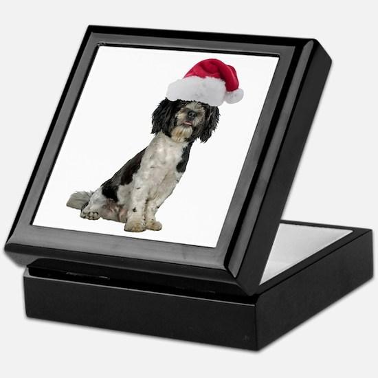 Santa Havanese Christmas Keepsake Box