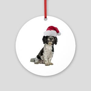 Santa Havanese Christmas Ornament (Round)