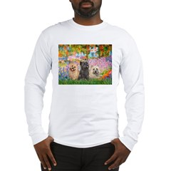 Garden/3 Cairn Terriers Long Sleeve T-Shirt