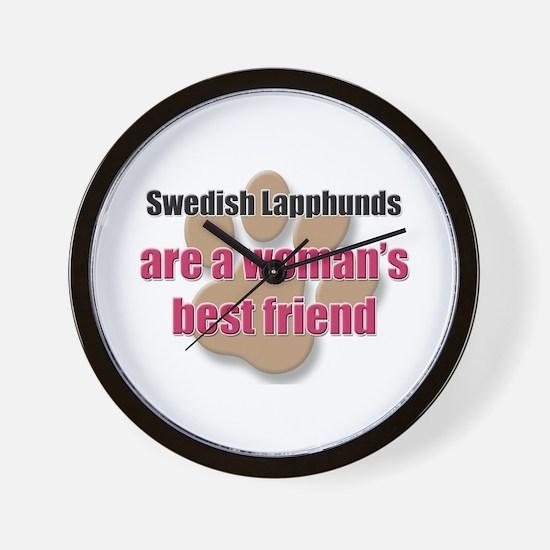 Swedish Lapphunds woman's best friend Wall Clock