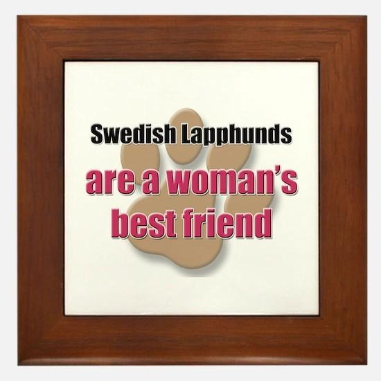 Swedish Lapphunds woman's best friend Framed Tile