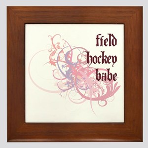 Field Hockey Babe Framed Tile