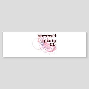 Environmental Engineering Babe Bumper Sticker