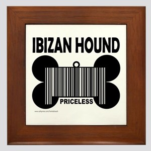 IBIZAN HOUND PRICELESS Framed Tile