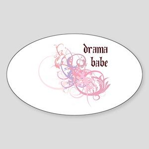 Drama Babe Oval Sticker