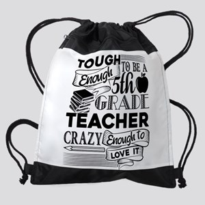 5th Grade Teacher Drawstring Bag