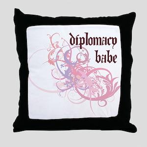 Diplomacy Babe Throw Pillow