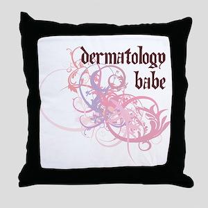 Dermatology Babe Throw Pillow