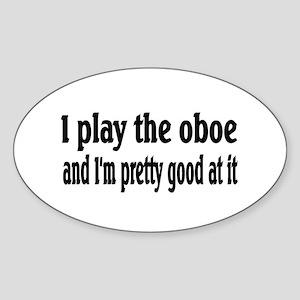 Oboe Oval Sticker