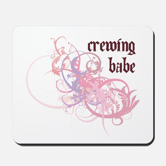Crewing Babe Mousepad