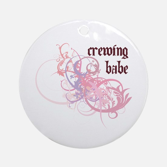 Crewing Babe Ornament (Round)