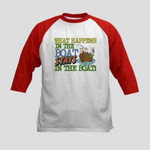 STAYS IN THE BOAT Kids Baseball Jersey